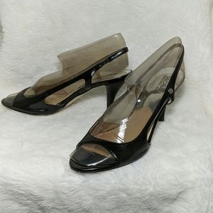 Michael Kors black heels shoes